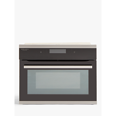 John Lewis & Partners JLBICO432 Built-In Combination Microwave Oven, Black