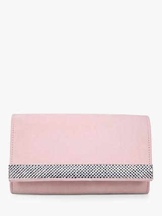Carvela Kink Clutch Bag, Nude