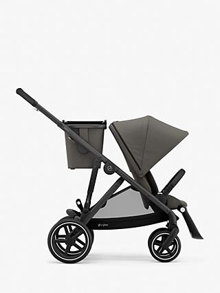 Cybex Gazelle S 7 Piece Single to Double Pushchair Bundle, Soho Grey