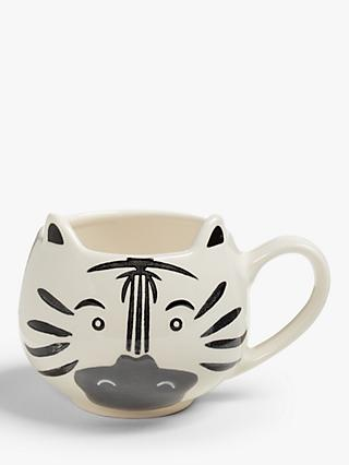 John Lewis & Partners Animals Zebra Mug, 250ml, White/Black