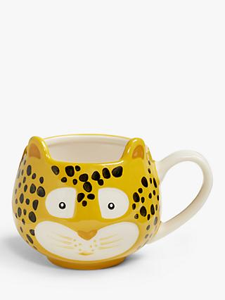 John Lewis & Partners Animals Leopard Mug, 250ml, Yellow
