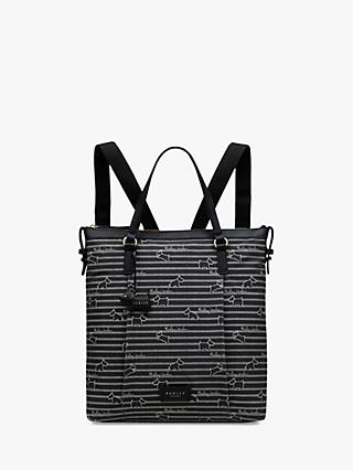 Radley Stripe Oilskin Backpack
