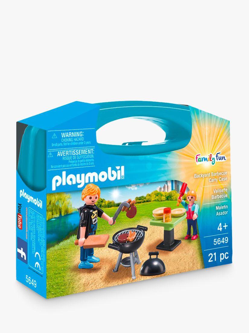 Playmobil Family Fun 5649 Backyard BBQ Carry Case