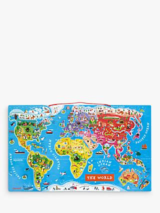 Janod World Map Magnet Puzzle, 92 Pieces