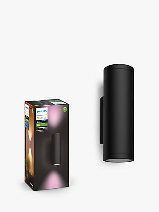 Philips Hue White and Colour Ambiance Appear LED Outdoor Wall Light bundle x 2