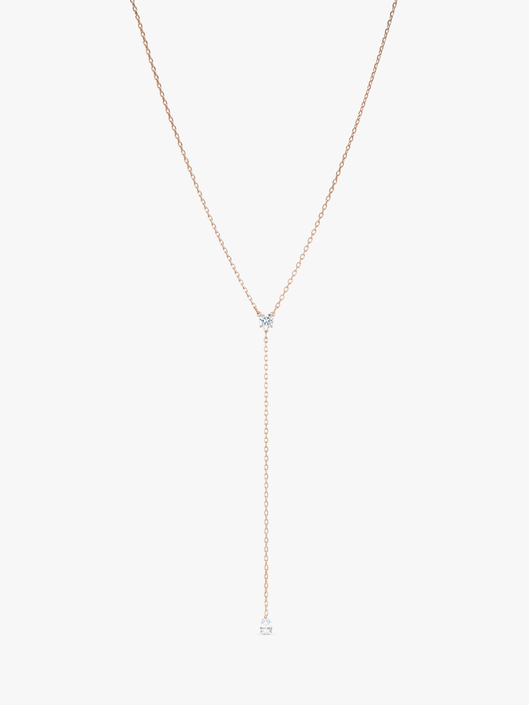 Swarovski Swarovski Attract Soul Y Pendant Necklace, Rose Gold