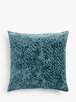 John Lewis & Partners High Low Velvet Cushion