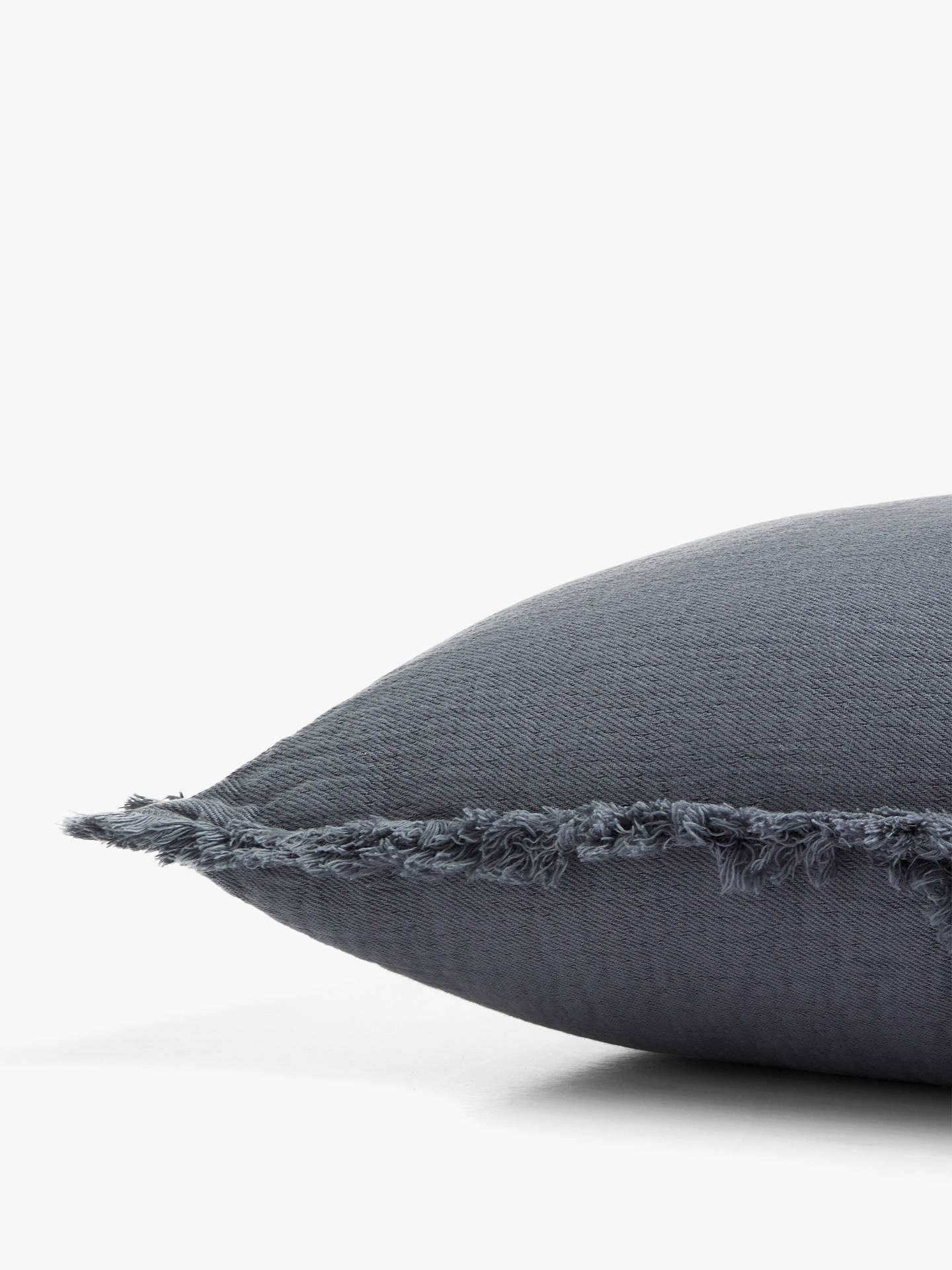 Buy John Lewis & Partners Washed Cotton Cushion, Slate Online at johnlewis.com