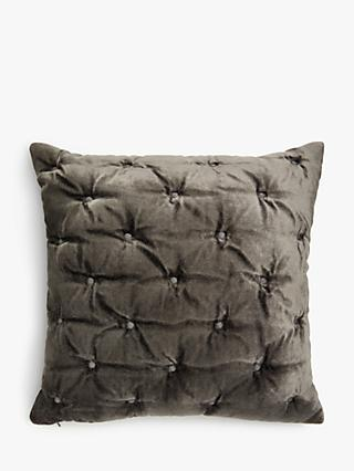 John Lewis & Partners Velvet Stitch Small Cushion