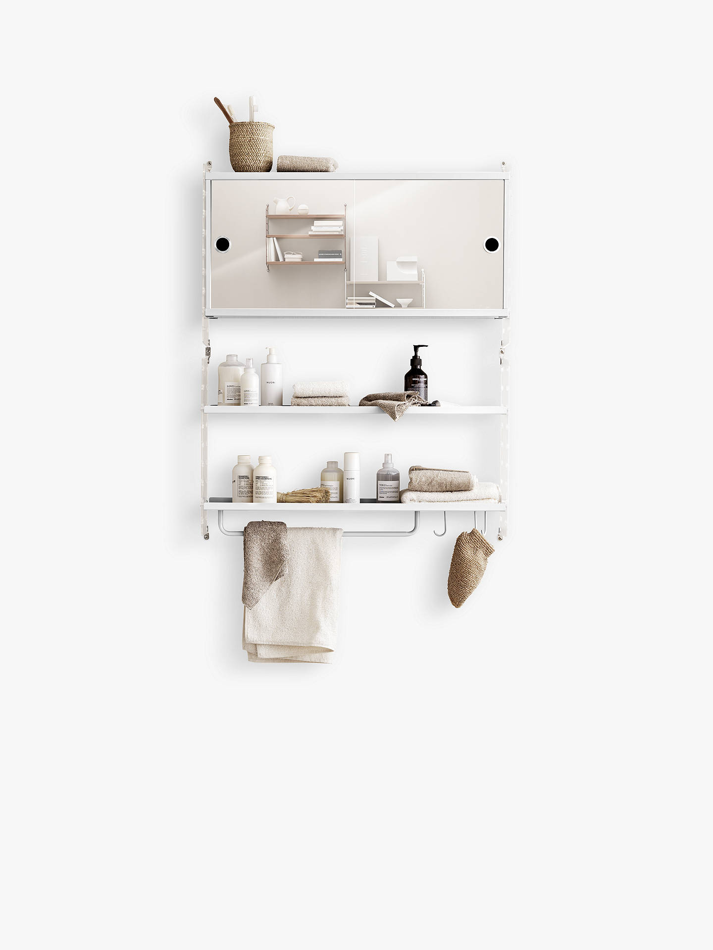 String Double Mirrored Bathroom Cabinet