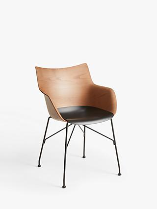 Philippe Starck for Kartell Q/Wood Dining Armchair, Brown/Black