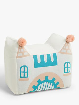 little home at John Lewis Castle Bean Bag Pouffe, Multi