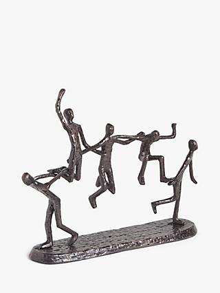 John Lewis & Partners Dancing People Aluminum Sculpture, H33.5cm, Bronze