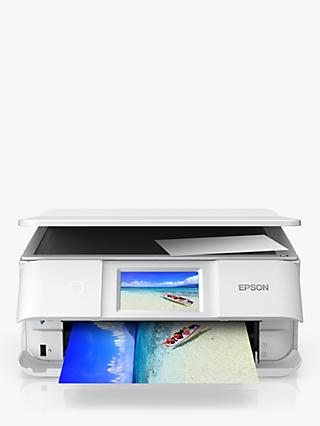 Epson Expression Photo XP-8605 Three-in-One Wireless Printer, White