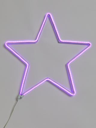 John Lewis & Partners Neon Star Light, Pink