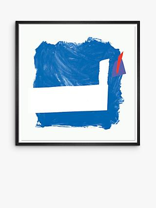 Royal Academy - Sandra Blow 'Side Effect' Framed Print, 105 x 105cm, Blue