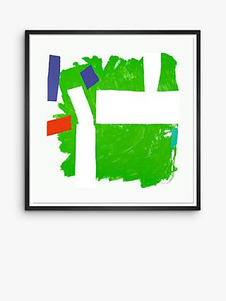 Royal Academy - Sandra Blow 'Split Second' Framed Print, 105 x 105cm, Green