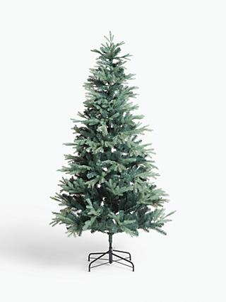 John Lewis & Partners Aspen Blue Unlit Christmas Tree, 7ft