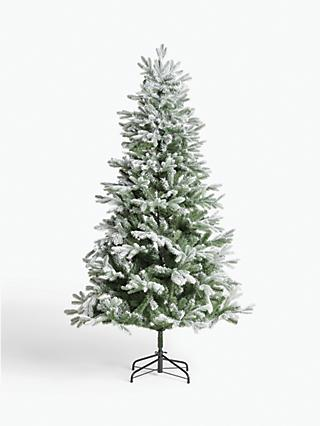 John Lewis & Partners Aspen Frosted Unlit Christmas Tree, 7ft