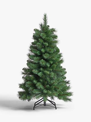 John Lewis & Partners Fireside Unlit Christmas Tree, 4ft