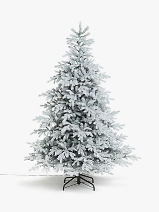 John Lewis & Partners Isla Diamond Frost Pre-lit Christmas Tree, 7ft