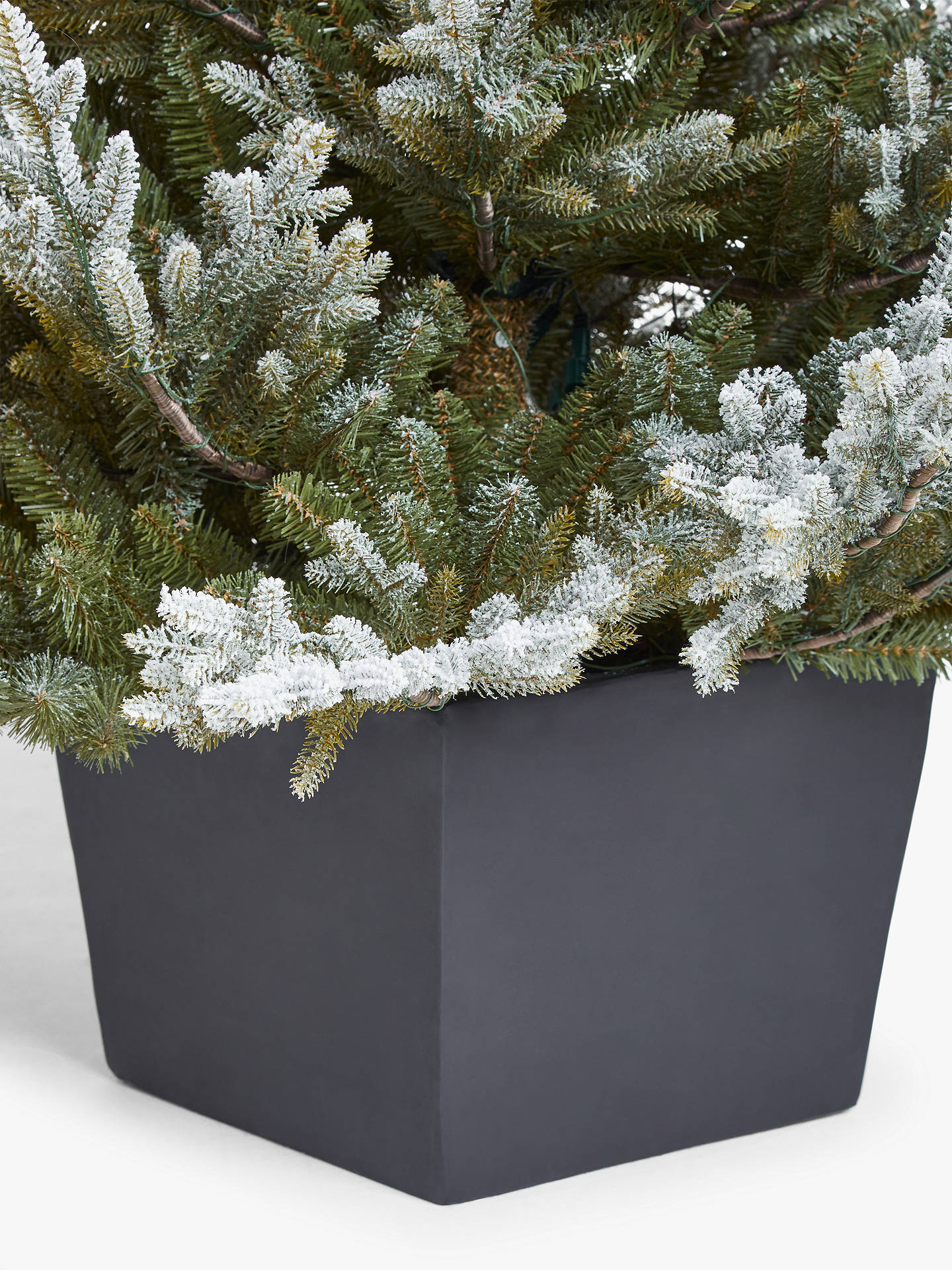 John Lewis & Partners Cotswold Snowy Potted Pre-lit Christmas Tree, 7ft at John Lewis & Partners