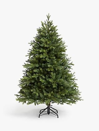 John Lewis & Partners Brunswick Spruce Unlit Christmas Tree, 5ft