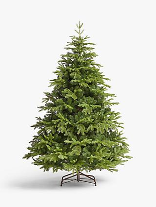 John Lewis & Partners St. Petersburg Unlit Christmas Tree, Green, 7ft