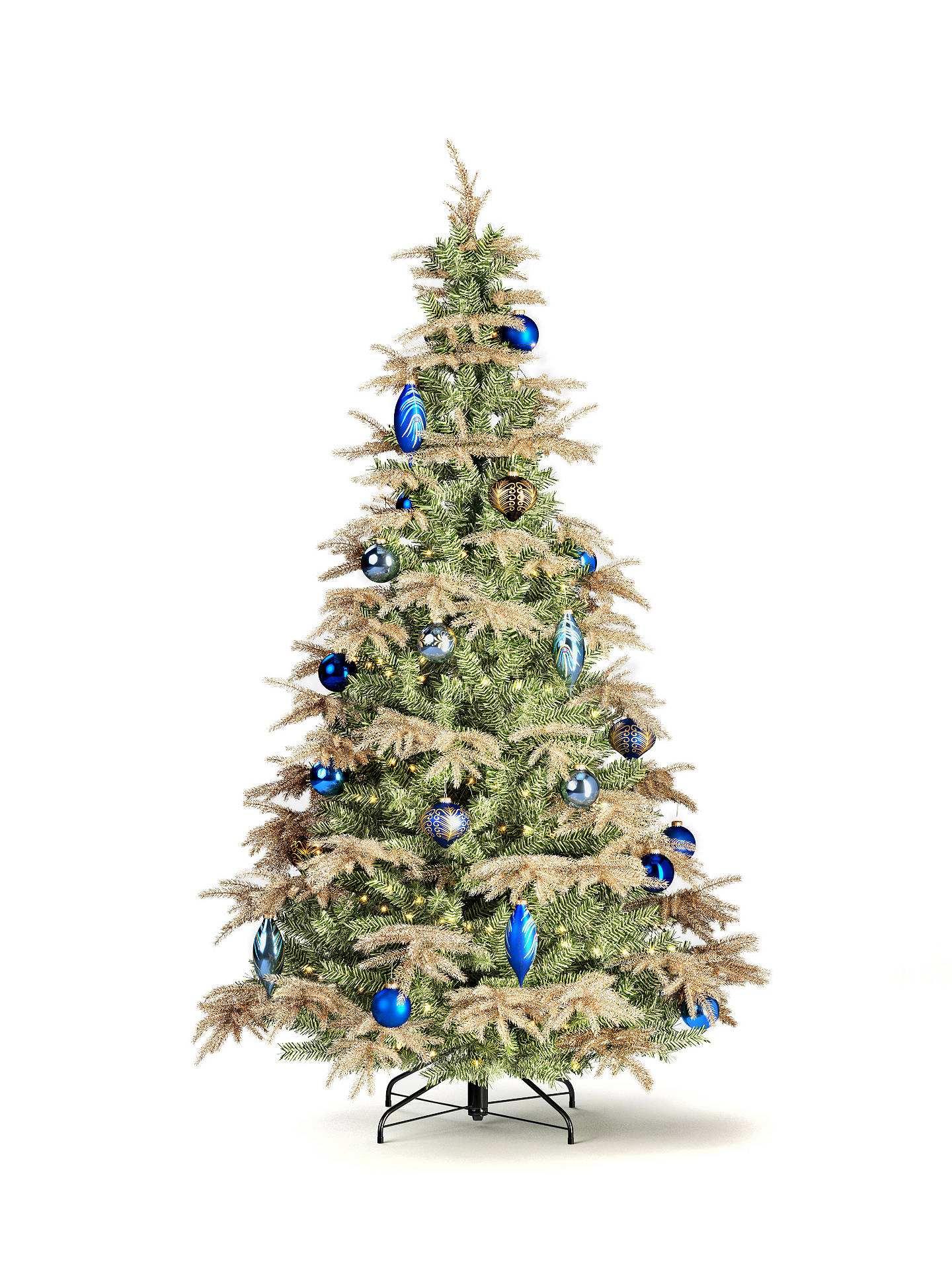 Buy John Lewis & Partners Gabriel Gold Unlit Christmas Tree, 7ft Online at johnlewis.com