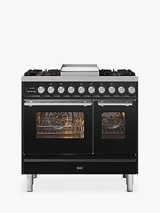 ILVE Roma PD09FWE3/MG Double Oven Dual Fuel Range Cooker, A+ Energy Rating, Matt Graphite