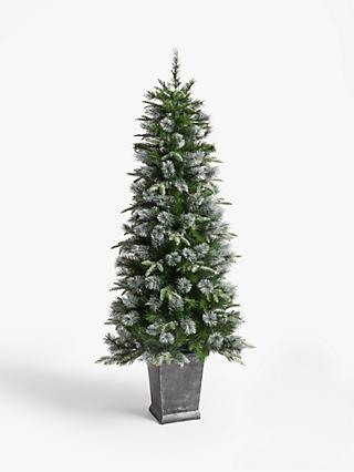 John Lewis & Partners St. Anton Potted Pre-lit Christmas Tree, 6ft