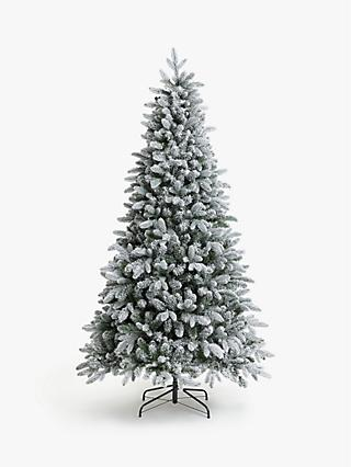 John Lewis & Partners Pre-Lit Snowy Spruce Christmas Tree, 7ft