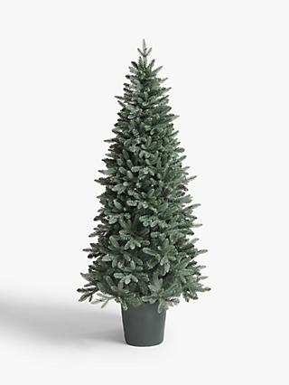 John Lewis & Partners Bala Blue Potted Pre-lit Christmas Tree, 7ft