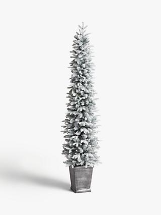 John Lewis & Partners Verbier Potted Pre-lit Christmas Tree, 7ft