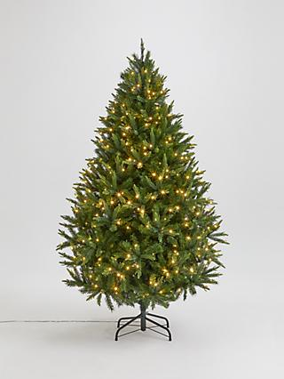 John Lewis & Partners Peardrop Pre-Lit Christmas Tree, 7ft