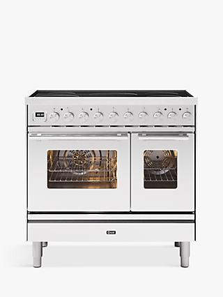 ILVE Roma PDI09WE3/SS Double Oven Electric Range Cooker, A+ Energy Rating, Stainless Steel