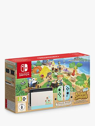 Nintendo Switch 1.1 Console with Animal Crossing: New Horizons Game Bundle