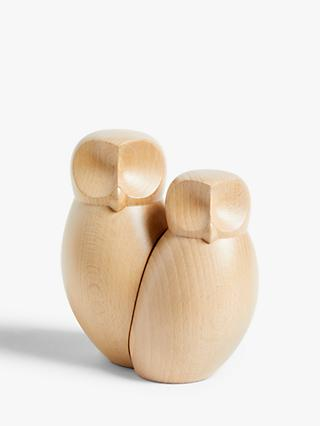 John Lewis & Partners Wooden Owl Set