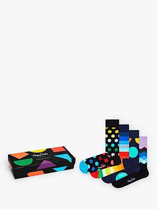 Happy Socks Classics Sock Gift Box, One Size, Pack of 4, Multi