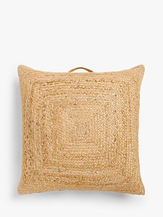 John Lewis & Partners Jute Floor Cushion, Natural