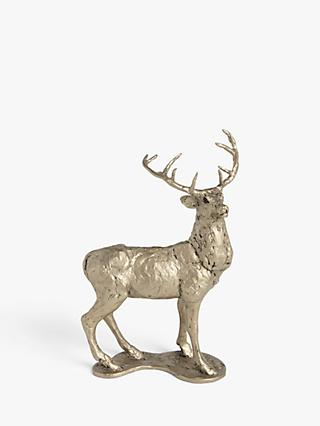 Frith Sculpture Red Deer Stag by Thomas Meadows, H25cm, Gold