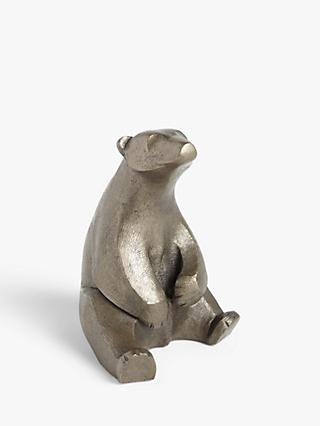 Frith Sculpture Sitting Polar Bear by Adrian Tinsley, H14cm, Gold