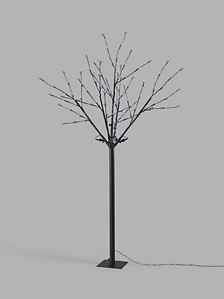 John Lewis & Partners Spark Pre-Lit Black Twig Tree, Ice White, 6ft