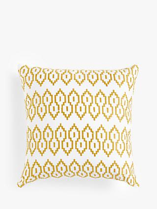 John Lewis & Partners Embroidered Cushion, Gold