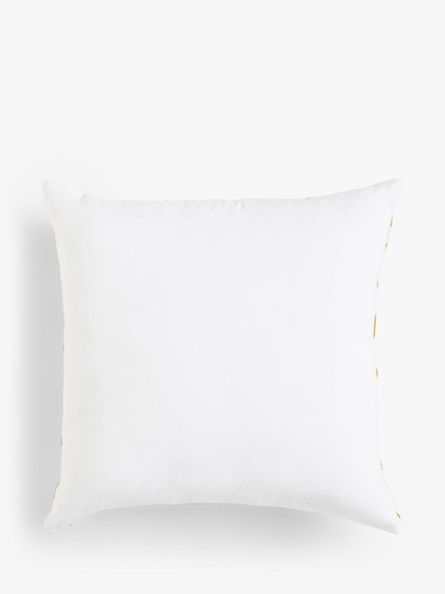 Buy John Lewis & Partners Embroidered Cushion, Gold Online at johnlewis.com