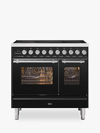 ILVE Roma PDI09WE3/MG Double Oven Electric Range Cooker, A+ Energy Rating, Matt Graphite