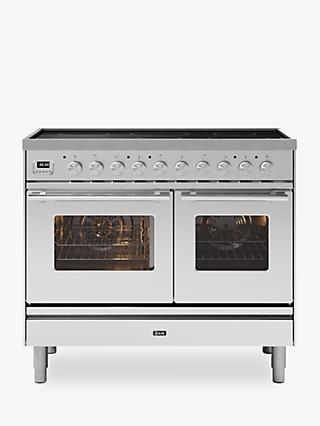 ILVE Roma PDI10WE3/SS Double Oven Electric Range Cooker, A+ Energy Rating, Stainless Steel