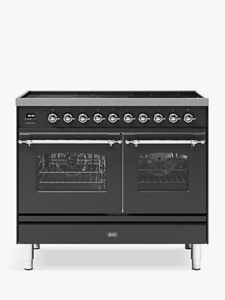 ILVE Milano PDI10NE3/MGC Double Oven Electric Induction Hob Range Cooker, A+ Energy Rating, Matt Graphite