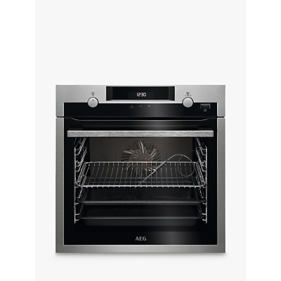 Image of AEG SteamBake BCS556020M 59cm Built-In Single Electric Oven, A+ Energy Rating, Stainless Steel