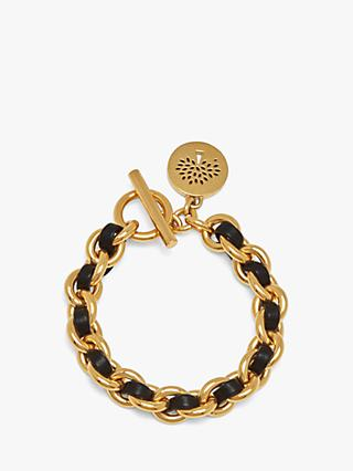 Mulberry Medium Medallion Leather Chain Bracelet